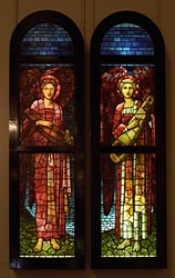 Whitworth Art Gallery - windows by William Morris / Burne Jones