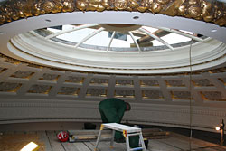 Restoration of zodiac dome.